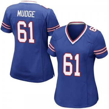 Women's Nike Buffalo Bills Jordan Mudge Royal Blue Team Color Jersey - Game