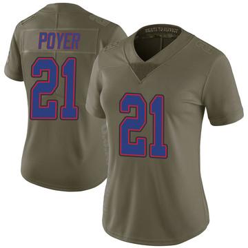 Women's Nike Buffalo Bills Jordan Poyer Green 2017 Salute to Service Jersey - Limited