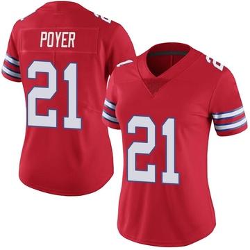 Women's Nike Buffalo Bills Jordan Poyer Red Color Rush Vapor Untouchable Jersey - Limited