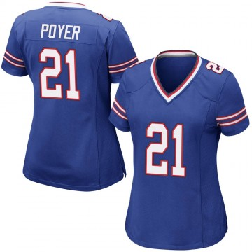 Women's Nike Buffalo Bills Jordan Poyer Royal Blue Team Color Jersey - Game