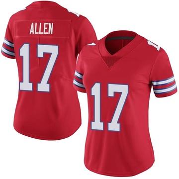 Women's Nike Buffalo Bills Josh Allen Red Color Rush Vapor Untouchable Jersey - Limited