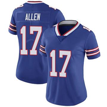 Women's Nike Buffalo Bills Josh Allen Royal 100th Vapor Jersey - Limited