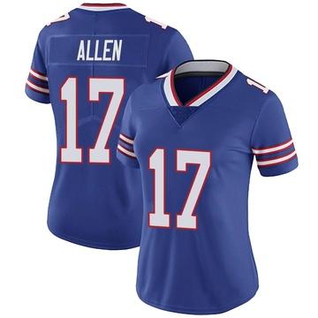 Women's Nike Buffalo Bills Josh Allen Royal Team Color Vapor Untouchable Jersey - Limited