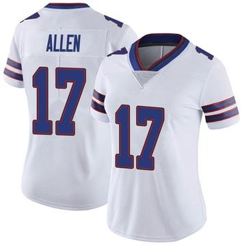 Women's Nike Buffalo Bills Josh Allen White Color Rush Vapor Untouchable Jersey - Limited