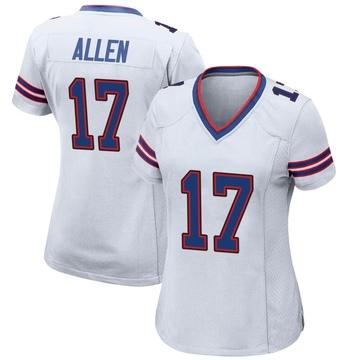 Women's Nike Buffalo Bills Josh Allen White Jersey - Game