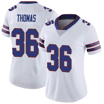 Women's Nike Buffalo Bills Josh Thomas White Color Rush Vapor Untouchable Jersey - Limited