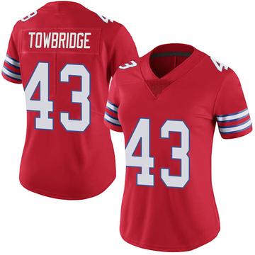 Women's Nike Buffalo Bills Keith Towbridge Red Color Rush Vapor Untouchable Jersey - Limited