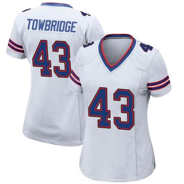 Women's Nike Buffalo Bills Keith Towbridge White Jersey - Game