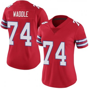 Women's Nike Buffalo Bills LaAdrian Waddle Red Color Rush Vapor Untouchable Jersey - Limited