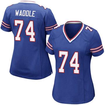 Women's Nike Buffalo Bills LaAdrian Waddle Royal Blue Team Color Jersey - Game