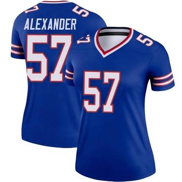 Women's Nike Buffalo Bills Lorenzo Alexander Royal Jersey - Legend