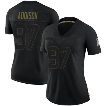 Women's Nike Buffalo Bills Mario Addison Black 2020 Salute To Service Jersey - Limited