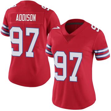 Women's Nike Buffalo Bills Mario Addison Red Color Rush Vapor Untouchable Jersey - Limited
