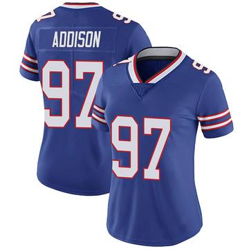 Women's Nike Buffalo Bills Mario Addison Royal 100th Vapor Jersey - Limited