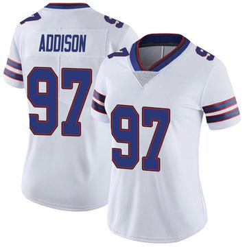 Women's Nike Buffalo Bills Mario Addison White Color Rush Vapor Untouchable Jersey - Limited