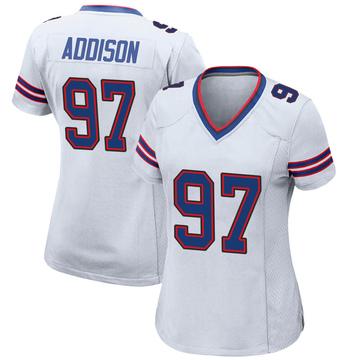 Women's Nike Buffalo Bills Mario Addison White Jersey - Game