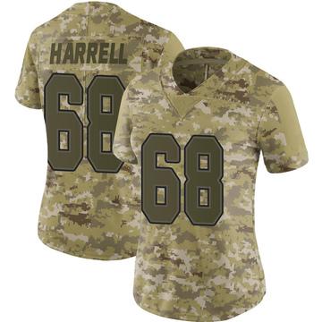 Women's Nike Buffalo Bills Marquel Harrell Camo 2018 Salute to Service Jersey - Limited