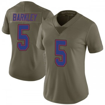 Women's Nike Buffalo Bills Matt Barkley Green 2017 Salute to Service Jersey - Limited