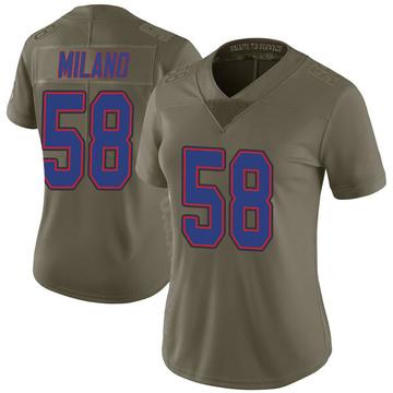 Women's Nike Buffalo Bills Matt Milano Green 2017 Salute to Service Jersey - Limited