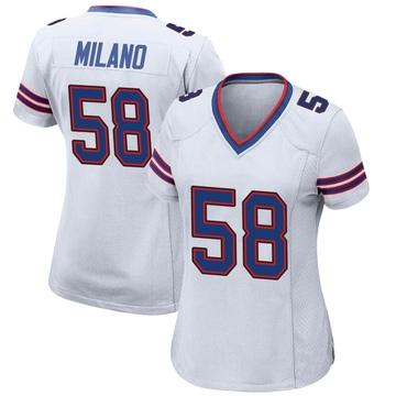 Women's Nike Buffalo Bills Matt Milano White Jersey - Game