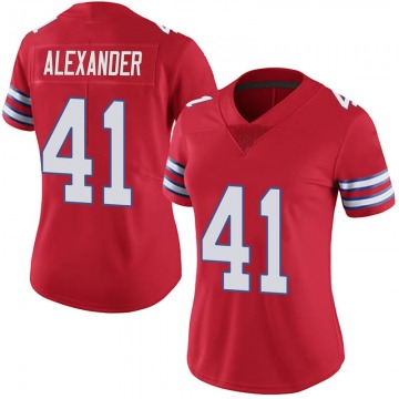 Women's Nike Buffalo Bills Maurice Alexander Red Color Rush Vapor Untouchable Jersey - Limited
