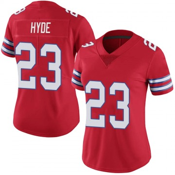 Women's Nike Buffalo Bills Micah Hyde Red Color Rush Vapor Untouchable Jersey - Limited