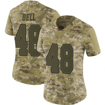 Women's Nike Buffalo Bills Mike Bell Camo 2018 Salute to Service Jersey - Limited