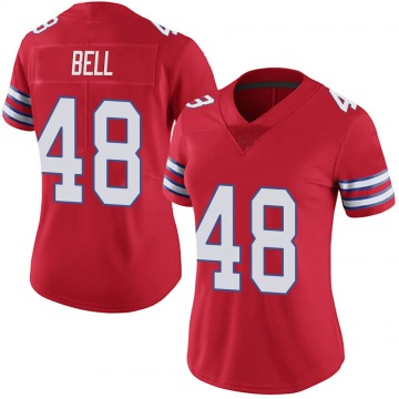 Women's Nike Buffalo Bills Mike Bell Red Color Rush Vapor Untouchable Jersey - Limited