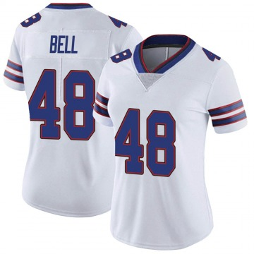 Women's Nike Buffalo Bills Mike Bell White Color Rush Vapor Untouchable Jersey - Limited