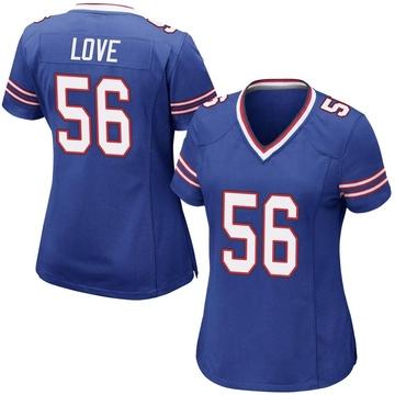 Women's Nike Buffalo Bills Mike Love Royal Blue Team Color Jersey - Game