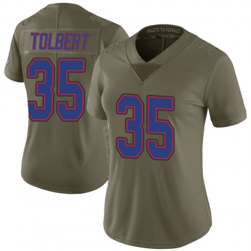 Women's Nike Buffalo Bills Mike Tolbert Green 2017 Salute to Service Jersey - Limited