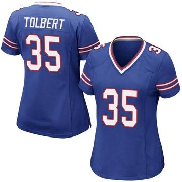 Women's Nike Buffalo Bills Mike Tolbert Royal Blue Team Color Jersey - Game