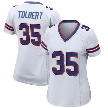 Women's Nike Buffalo Bills Mike Tolbert White Jersey - Game