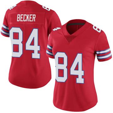 Women's Nike Buffalo Bills Nate Becker Red Color Rush Vapor Untouchable Jersey - Limited