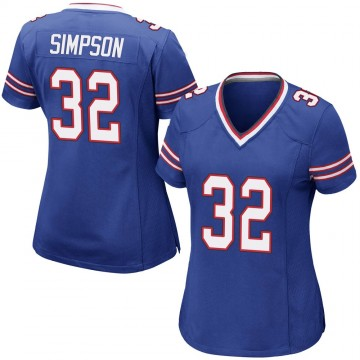 Women's Nike Buffalo Bills O. J. Simpson Royal Blue Team Color Jersey - Game