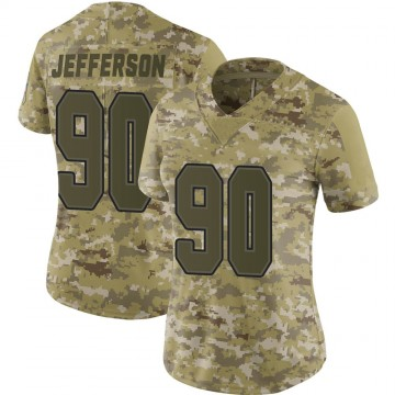 Women's Nike Buffalo Bills Quinton Jefferson Camo 2018 Salute to Service Jersey - Limited