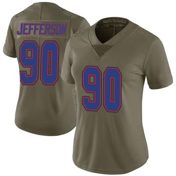 Women's Nike Buffalo Bills Quinton Jefferson Green 2017 Salute to Service Jersey - Limited