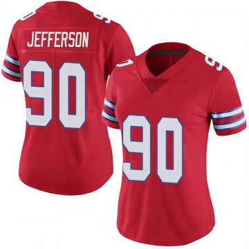 Women's Nike Buffalo Bills Quinton Jefferson Red Color Rush Vapor Untouchable Jersey - Limited