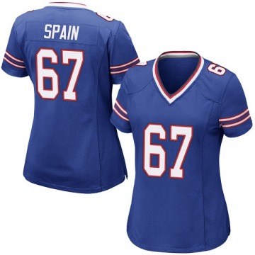 Women's Nike Buffalo Bills Quinton Spain Royal Blue Team Color Jersey - Game
