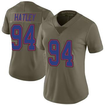 Women's Nike Buffalo Bills Rickey Hatley Green 2017 Salute to Service Jersey - Limited
