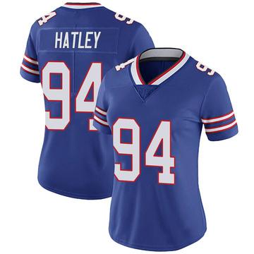 Women's Nike Buffalo Bills Rickey Hatley Royal 100th Vapor Jersey - Limited