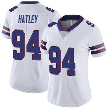 Women's Nike Buffalo Bills Rickey Hatley White Color Rush Vapor Untouchable Jersey - Limited