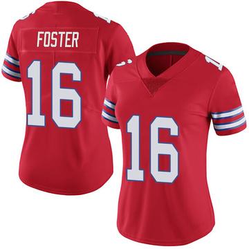 Women's Nike Buffalo Bills Robert Foster Red Color Rush Vapor Untouchable Jersey - Limited