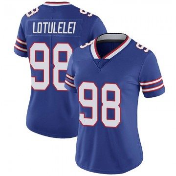 Women's Nike Buffalo Bills Star Lotulelei Royal 100th Vapor Jersey - Limited