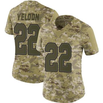 Women's Nike Buffalo Bills T.J. Yeldon Camo 2018 Salute to Service Jersey - Limited