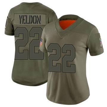 Women's Nike Buffalo Bills T.J. Yeldon Camo 2019 Salute to Service Jersey - Limited