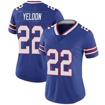 Women's Nike Buffalo Bills T.J. Yeldon Royal 100th Vapor Jersey - Limited