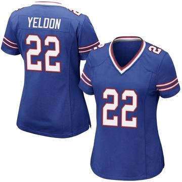 Women's Nike Buffalo Bills T.J. Yeldon Royal Blue Team Color Jersey - Game