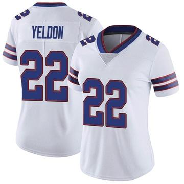 Women's Nike Buffalo Bills T.J. Yeldon White Color Rush Vapor Untouchable Jersey - Limited