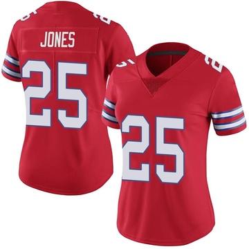 Women's Nike Buffalo Bills Taiwan Jones Red Color Rush Vapor Untouchable Jersey - Limited